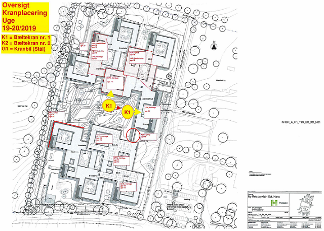 Proces- og byggepladsplanen er samtidig byggepladsens sikkerhedsplan. Udarbejdes af Anders i samarbejde med byggeledelsen og baseret på input fra de aktive entreprenører på pladsen, herunder råhusentreprenørens Kranplan og Montageplan. Hovedplanen sammenfatter alle aktiviteter på pladsen i den kommende uge samt det planlagte tre uger frem samt anviser adgangsveje for gående og kørende trafik. Planen revideres og distribueres på ny, såfremt der sker ændringer af betydning i igangværende aktiviteter.