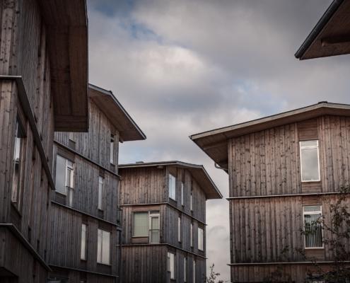 Billede af bæredygtigt byggeri på Lisbjerg bakke